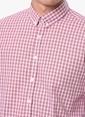 George Hogg Kareli Slim Fit Uzun Kollu Gömlek Bej
